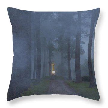 Foggy Hallowed Ground Throw Pillow