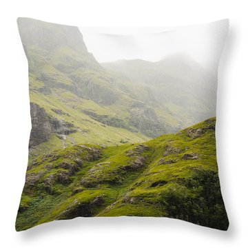 Throw Pillow featuring the photograph Foggy Highlands Morning by Christi Kraft