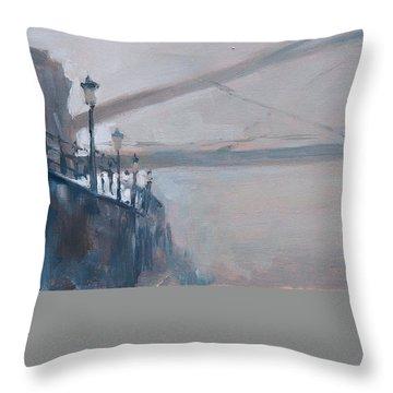 Foggy Hoeg Throw Pillow by Nop Briex