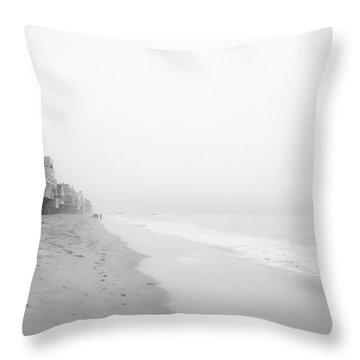 foggy Malibu Beach  Throw Pillow by Ralf Kaiser