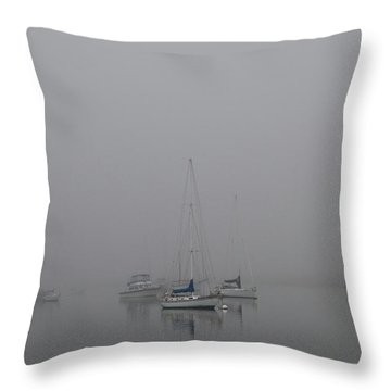 Waiting Out The Fog Throw Pillow