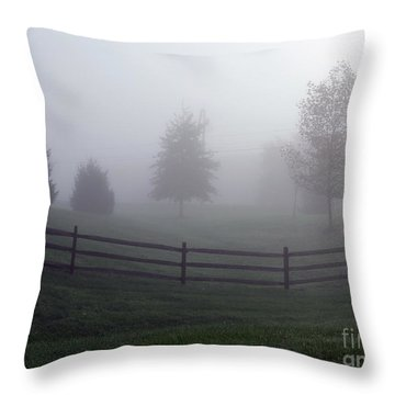 Foggy Morning Throw Pillow