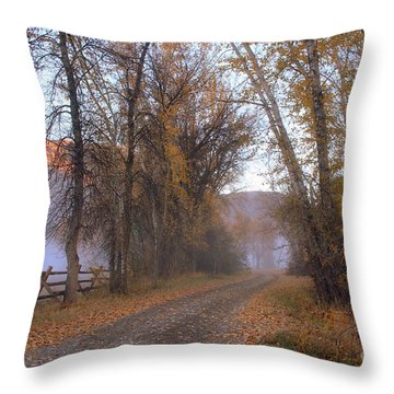 Throw Pillow featuring the photograph Foggy Morning by Irina Hays