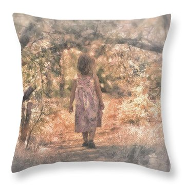 Foggy Morning Light Throw Pillow