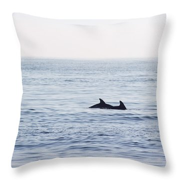 Foggy Morning Swim Throw Pillow