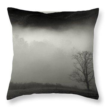Foggy Mountain-tennessee Throw Pillow
