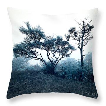 Foggy Mountaintop Throw Pillow
