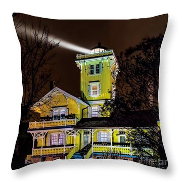 Throw Pillow featuring the photograph Foggy Night At Hereford by Nick Zelinsky