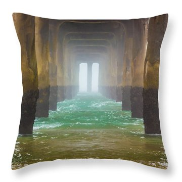 Coastal Fog Throw Pillow