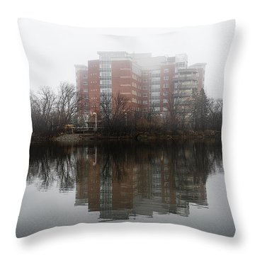 Foggy Reflection Throw Pillow by Celso Bressan