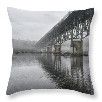 Foggy Reflection Throw Pillow