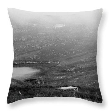 Foggy Scottish Morning Throw Pillow