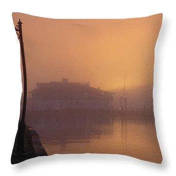 Foggy Sunrise Throw Pillow