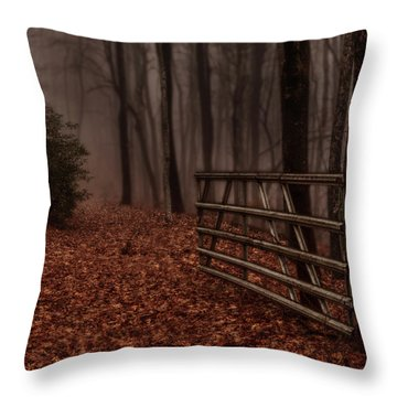 Foggy Trail Throw Pillow