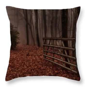 Foggy Trail Throw Pillow