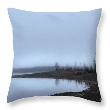 Foggy Water Throw Pillow