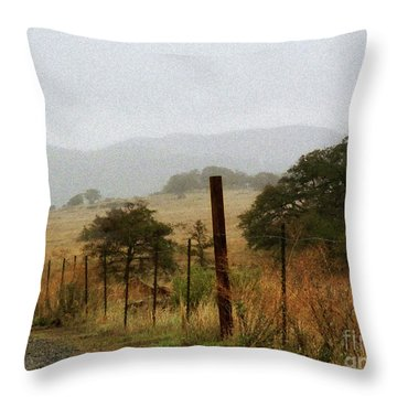 Foggy Wet Morning Throw Pillow by Robert Ball
