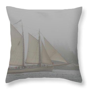 Foggy Windjammer Throw Pillow