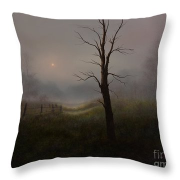 Foggy Woods Throw Pillow by Sena Wilson