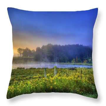 Fogy Sunrise  Throw Pillow