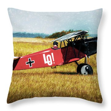 Throw Pillow featuring the photograph Fokker D Vii by James Barber
