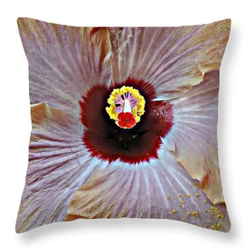 Throw Pillow featuring the photograph Folding Petals by Peggy Stokes