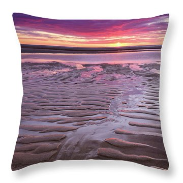 Folds In The Sand - Vertical Throw Pillow