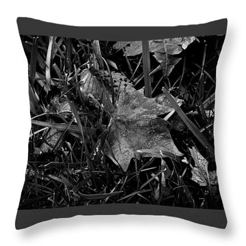 Foliage In The Grass Throw Pillow