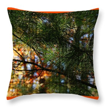 Foliage Tilework Throw Pillow