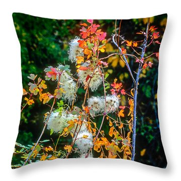 Foliage Twisted Colored Leaves Throw Pillow