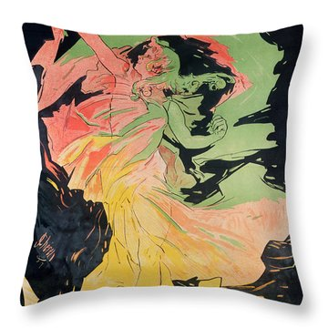 Folies Bergeres Throw Pillow by Jules Cheret
