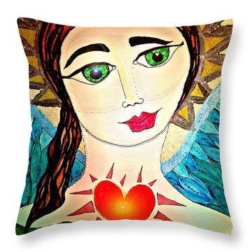 Folk Athena Throw Pillow