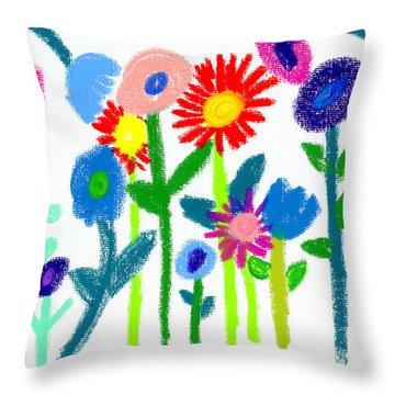 Folk Garden Throw Pillow