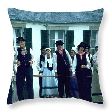 Folk Music Throw Pillow