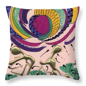 Throw Pillow featuring the mixed media Follow Me by Angela L Walker