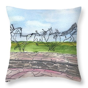 Throw Pillow featuring the painting Follow Me by Linda Feinberg