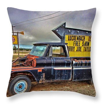 Follow Me To Luckenbach Throw Pillow