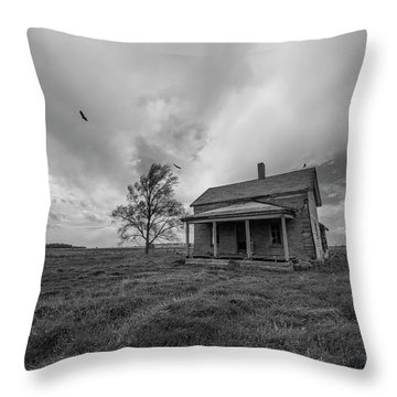 Follow The Buzzards Throw Pillow