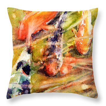 Follow The Leader Throw Pillow by Judith Levins