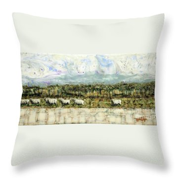 Follow The Leader Throw Pillow by Laurie Tietjen