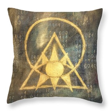 Follow The Light - Illuminati And Binary Throw Pillow