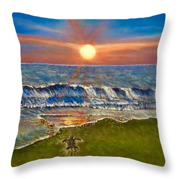 Follow The One True Light Throw Pillow