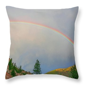Follow The Rainbow To The Majestic Rockies Of Colorado.  Throw Pillow