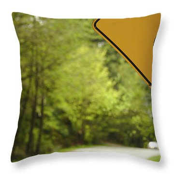 Throw Pillow featuring the photograph Follow The Sign by Cendrine Marrouat