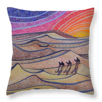 Follow The Star   Throw Pillow