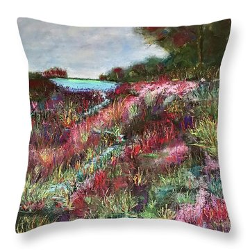 Follow The Whispers Throw Pillow by Vickie Scarlett-Fisher