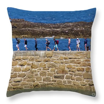 Throw Pillow featuring the photograph Follow The Yellow Brick Road by Terri Waters