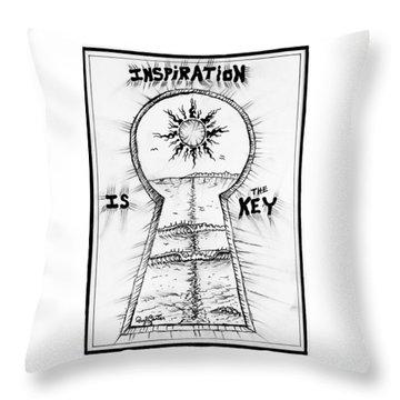 Follow Your Inspiration  Throw Pillow