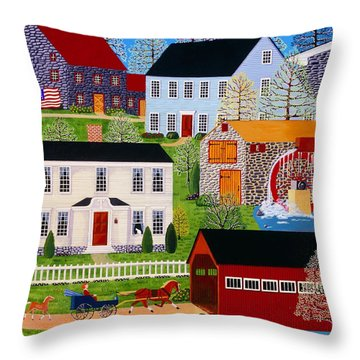 Followin' Mama Throw Pillow by Susan Henke