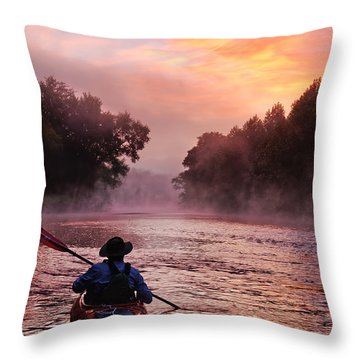 Following The Light Throw Pillow by Robert Charity